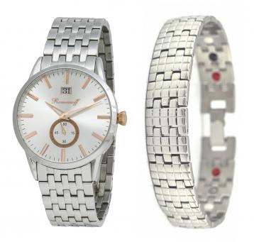 Комплект часы модель 10384T/ТВ1 «Romanoff» и оздоровительный браслет