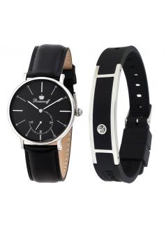 Комплект часы модель 30528G3BL «Romanoff» и биоэнергетический браслет