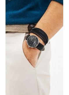 Комплект часы модель 30528G3BL «Romanoff» и  браслет «Leather style