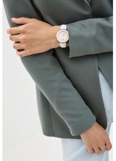 """Комплект """"Айсберг"""" часы модель 40525A1WL«Romanoff» и магнитный оздоровительный браслет"""